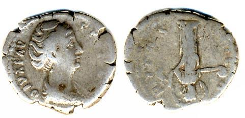 Денарий фаустина монета символ рубля 2014