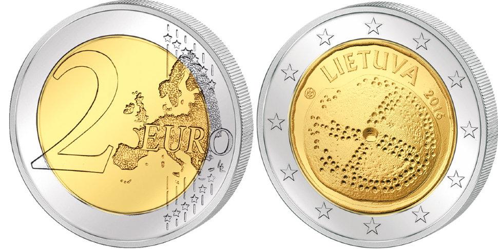 Литва, 2 евро 2015, литовский язык