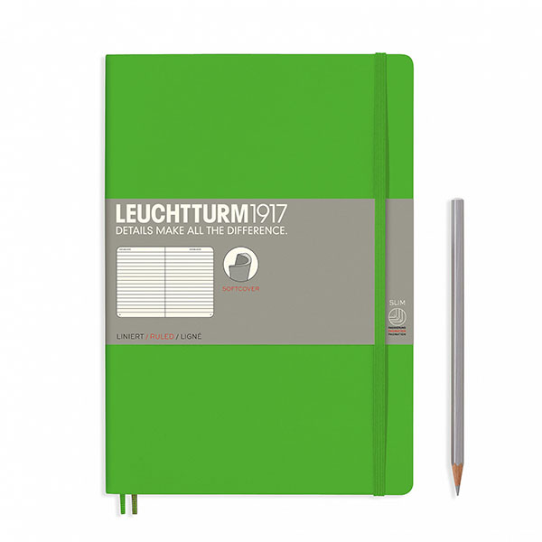 Книга для записей COMPOSITION B5 на 121 страницу в линейку, FRESH GREEN. Leuchtturm1917, #357653
