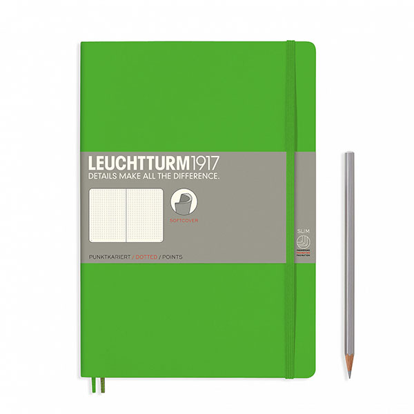 Книга для записей COMPOSITION B5 на 121 страницу в точку, FRESH GREEN. Leuchtturm1917, #357654