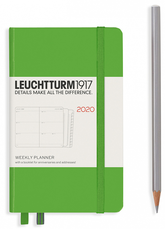 Еженедельник POCKET A6 на 2020 год, FRESH GREEN. Leuchtturm1917, #360003